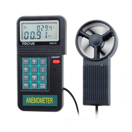 Imedición anemómetro Prova AVM05