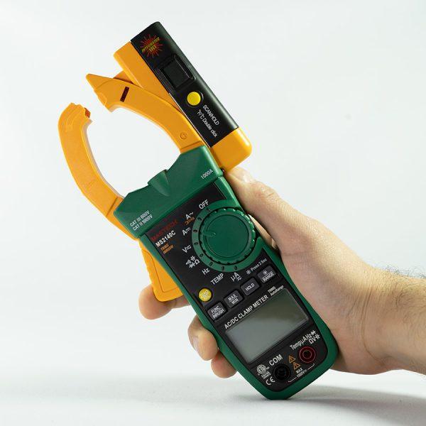 Pinza amperométrica con termómetro MS2140C